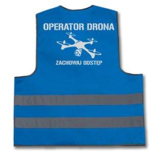 Kamizelki dla operatorów dronów