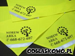 Żółta chusta odblaskowa norew arka