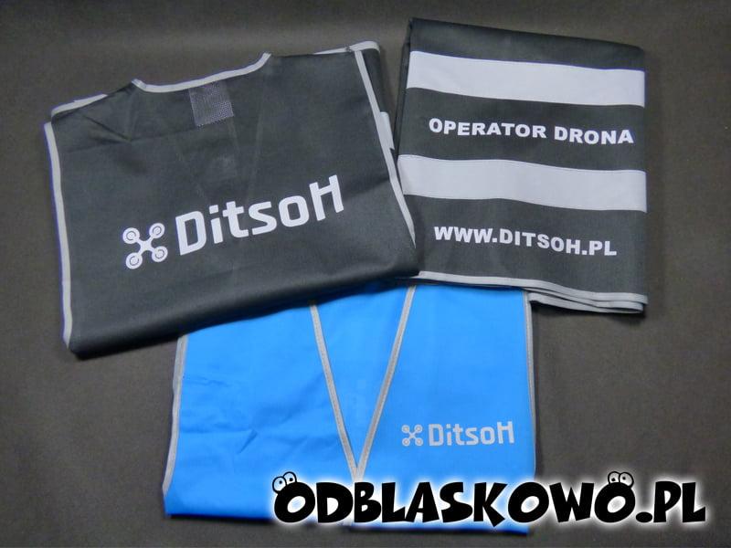 Kamizelka odblaskowa z napisami ditsoh operator drona