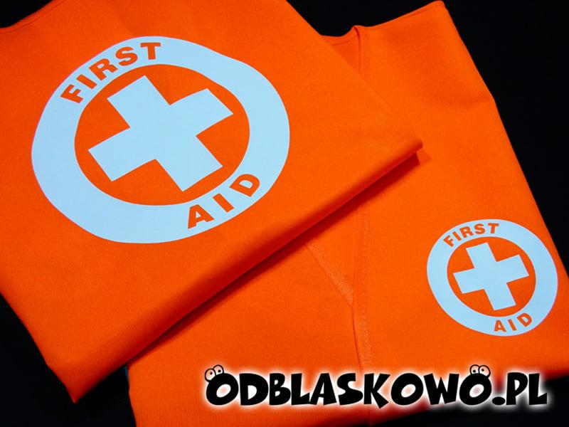 Kamizelka odblaskowa first aid na pomarańczowym