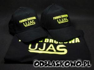 Koszulka odblaskowa czapka pomoc drogowa ujas