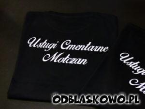 Koszulka odblaskowa usługi cmentarne mołczan