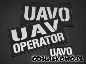 Naszywka czarna odblaskowa napis UAV operator