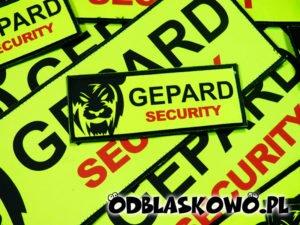 Naszywka odblaskowa żółta pogotowie gepard security