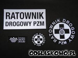 Naszywka odblaskowa ratownik drogowy PZM