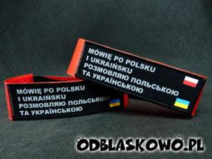 Opaska odblaskowa mówię po polsku i ukraińsku