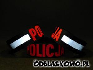 Opaska odblaskowa policja w kolorze czerwonym