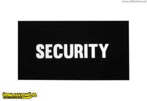 Czarny emblemat odblaskowy security