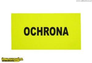 Czarny flex napis ochrona żółte tło