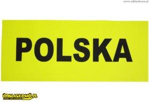 Czarny flex polska żółte tło naszywki odblaskowej