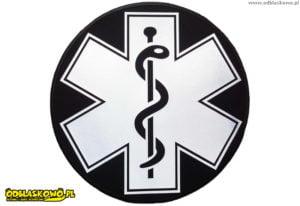 Emblemat eskulap kółko odblaskowe