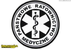Emblemat kółko państwowe ratownictwo medyczne odblaskowe