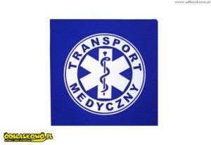 Emblemat niebieski odblaskowy transport medyczny