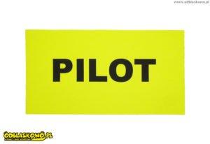 Emblemat odblask pilot żółty