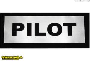 Emblemat odblaskowy pilot