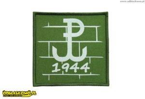 Emblemat odblaskowy polski walczącej 1944 na zielonym tle