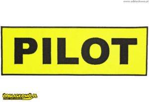 Emblemat pilot odblask żółte tło