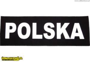 Emblemat polska odblask czarne tło