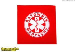 Emblemat w kółku czerwony ratownik medyczny