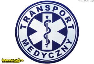 Emblemat w kółku transport medyczny