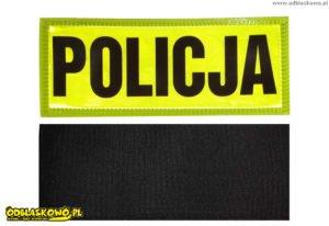 Emblemat żółty policja odblaskowy