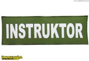 Emblematy odblaskowe instruktor khaki