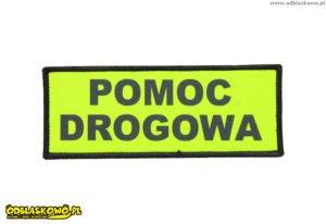 Emblematy odblaskowe napis pomoc drogowa