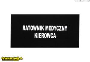 Emblematy odblaskowe ratownik medyczny kierowca czarne tło