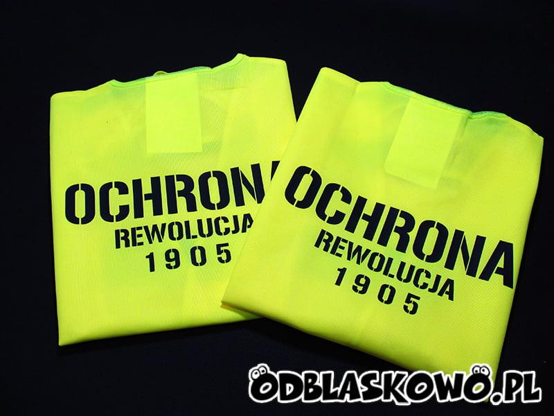 Ochrona rewolucja 1905 kamizelka odblaskowa żółta