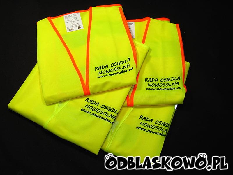 Kamizelki żółte odblaskowe rada osiedla nowosolna