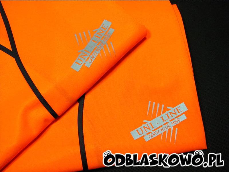 Kamizelka odblaskowa uni line pomarańczowa