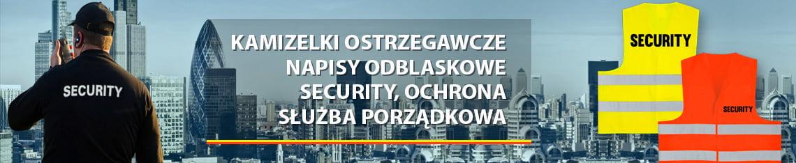 Kamizelki napisy ochrona security