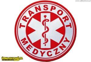 Kółko emblemat transport medyczny odblaskowy