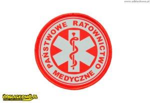 Kółko odblaskowe państwowe ratownictwo medyczne czerwone