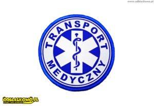 Koło niebieskie odblaskowe transport medyczny