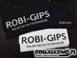Koszulka biała lub czarny flex z napisem robi gips