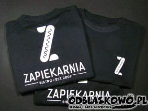 Koszulka flex zapiekarnia na czarnym tle