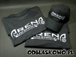 Koszulka i czapka z nadrukiem zestaw czarny