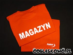 Koszulka pomarańczowa magazyn fobos