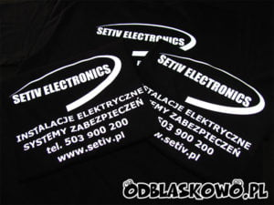 Czarna koszulka setiv electonics
