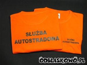 Koszulka z napisem służba autostradowa