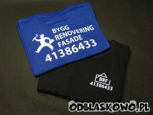Koszulka z nadrukiem brf kolor niebieski czarny