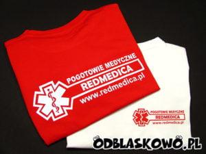 Koszulka z nadrukiem medyczna redmedica