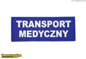 Napis transport medyczny naszywka odblaskowa
