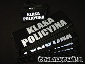 Naszywka z napisem klasa policyjna