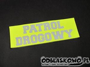Naszywka flex patrol drogowy na żółtym tle