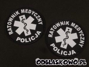Naszywka czarna flex ratownik medyczny policja