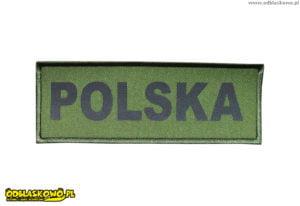 Naszywka khaki odblask napis polska