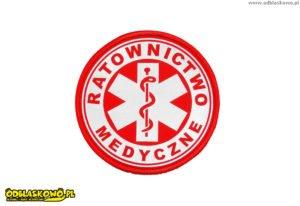 Naszywka kółko czerwona ratownictwo medyczne