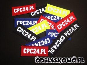 Różne kolory naszywki odblaskowej nadruk cpc24